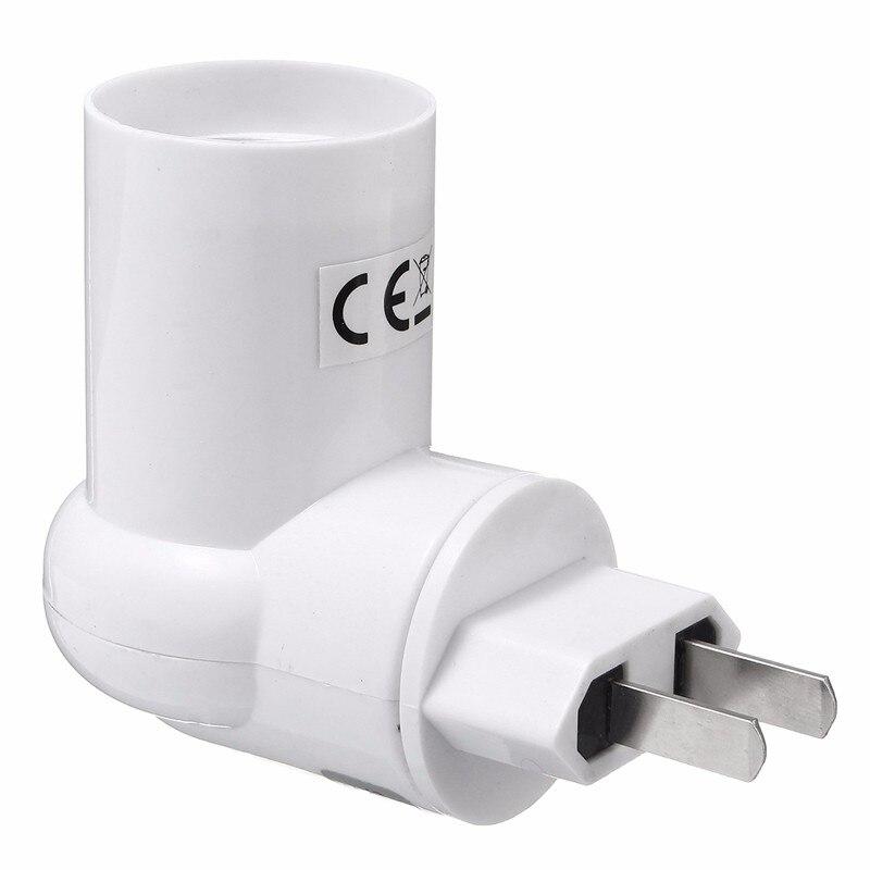 Jiguoor Lamp Base E27 Adapter Converter Socket Lamp Base Holder For LED PIR Motion Sensor Light Lamp Bulb AC110-240V EU/US Plug