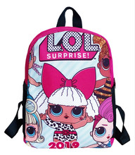 lol surprise lol dolls male and female students cartoon schoolbag schoolboy backpack offload schoolbag canvas backpack