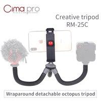 XILETU RM 25C Mini Travel Outdoor gorillapod Portable Tripode Flexible Octopus Tripod for Phone Digital DSLRs and GoPro