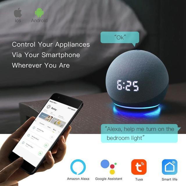BSEED Wifi Licht Touch Schalter Smart Home für Alexa und Google Home 4