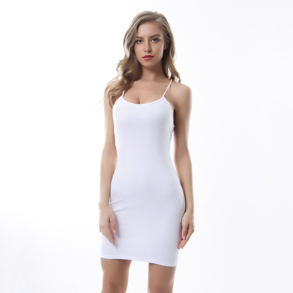 Sexy Black Summer Clothes Women Solid Color Backless Spaghetti Straps Nightclub Dress Bodycon Evening Party Low Neck Mini Dress 7