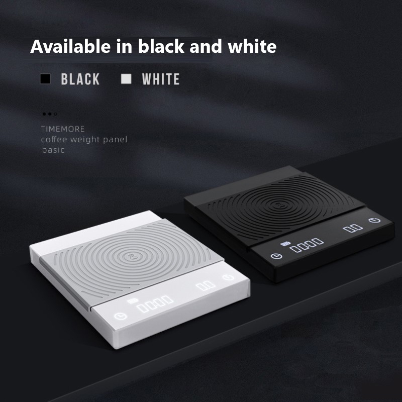 TIMEMORE أسود/أبيض القهوة مقياس الذكية الرقمية مقياس صب القهوة الإلكترونية بالتنقيط مقياس القهوة مع مقياس ميزان توقيت المطبخ