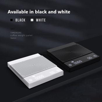 TIMEMORE czarna biała kawa skala inteligentna cyfrowa skala wlać kawę elektroniczna skala kawy kroplówki z zegarem waga analityczna kuchnia tanie i dobre opinie CN (pochodzenie) Plac DIGITAL Wyświetlacz LED Other 0 1g
