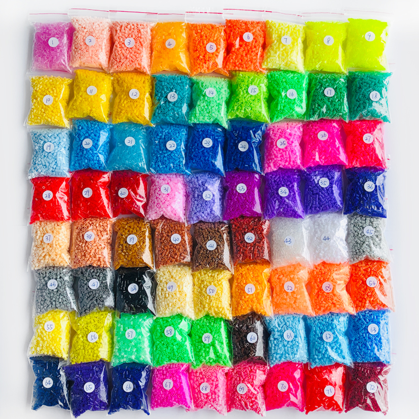 DOLLRYGA 2.6mm Hama Beads 1000pcs Jouet Enfant For Kid Pegboard Perler Bead DIY Puzzles Peas High Auality Loom Band For Children