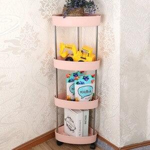 Image 5 - Étagère de rangement pour cuisine, étagère coulissante mince à assemblage mobile en plastique, étagère de salle de bain, roulettes, organiseur permettant de gagner de lespace, 2/3/4 couches