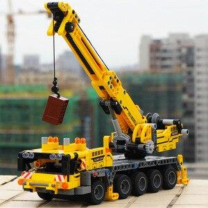 Image 2 - 665pcs Ewellsold Technic วิศวกรรมยก Crane Building Blocks ใช้งานร่วมกับ Technic รถบรรทุกก่อสร้างอิฐของเล่นสำหรับเด็ก
