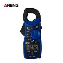 MT87 Portable LCD Digital Clamp Multimeter AC DC Digital Display Ammeter Voltage and Current Tester Multimeter