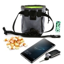 1 pc Travel bag Mountaineering Snack Food Carrier Box Feed Pocket Shrinkable Dog Bag New Training Waist Belt