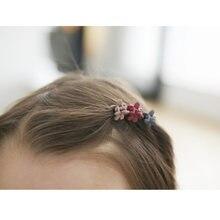 Мини заколки для волос аксессуары цветы головные уборы детей