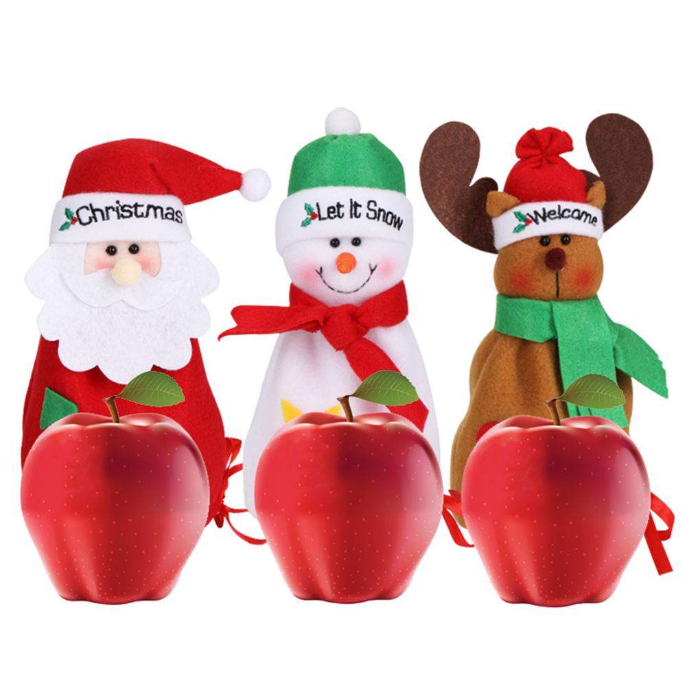 Christmas Santa Snowman Deer Bag Drawstring Candy Bag Holiday Supplies Christmas Ornaments Cute Novelty
