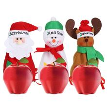 Christmas Santa Snowman Deer Bag Drawstring Candy Bag