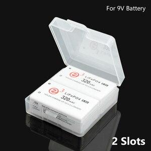 Image 1 - שקוף פלסטיק סוללה אחסון תיבת עבור 1Pc 2pcs 9V 6F22 סוללות סוללה מיכל מחזיק סוללה מקרה עבור סיטונאי