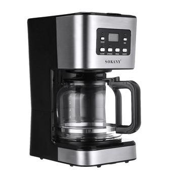 220V Coffee Machine 12 Cups For Espresso Cappuccino Latte Semi-Automatic Steam Coffee Maker Detachable Washable Coffeemaker 2