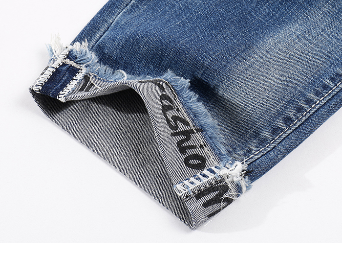 KSTUN Skinny Jeans Men Cropped Pants Ripped Stretch LIght Blue Side Striped Cuffs Casual Yong Boys Jeans Hiphop Distressed Jeans 18