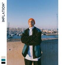 Inflação grossa jaqueta de lã coral 2020 inverno streetwear polar jaqueta masculina retalhos bolso solto outwear 9730 w