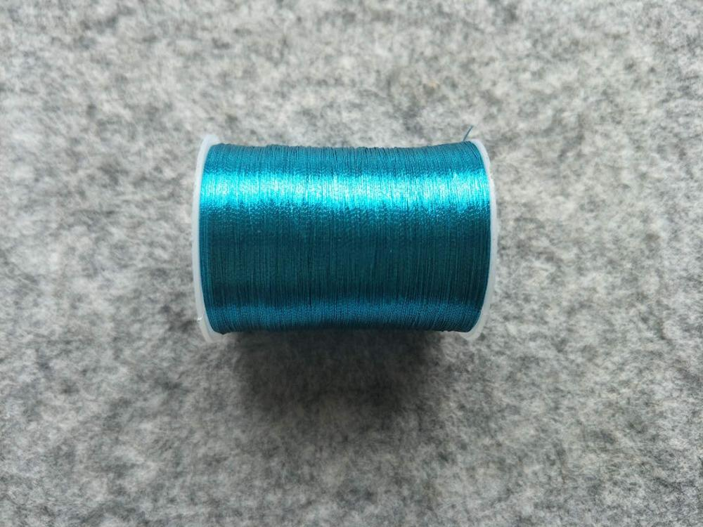 Металлическая нить для вышивки, аксессуары для одежды DIY, основные 15 видов цветов на выбор, нить для шитья, 1 шт - Цвет: sky blue