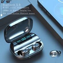 אלחוטי אוזניות 2020 חדש Bluetooth 9D HIFI ספורט אוזניות LED 2200 MAH מקרה עבור Iphone HUAWEI DZLST מקורי אלחוטי אוזניות