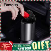 Baseus сплав автомобильный мусорный бак Авто Органайзер сумка для хранения автомобиля мусорное ведро пепельница пылезащитный чехол держател...