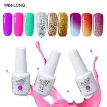 Гель лак win long для ногтей 8 мл УФ отмачиваемый меняющий цвет
