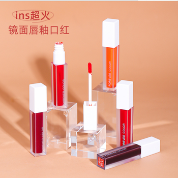 OSW Mirror Surface Lip Gloss Tint Lips Makeup 5 Colors Liquid Lipstick Lasting Moisturizing Non-stick Cup Lip Glaze TSLM2 image