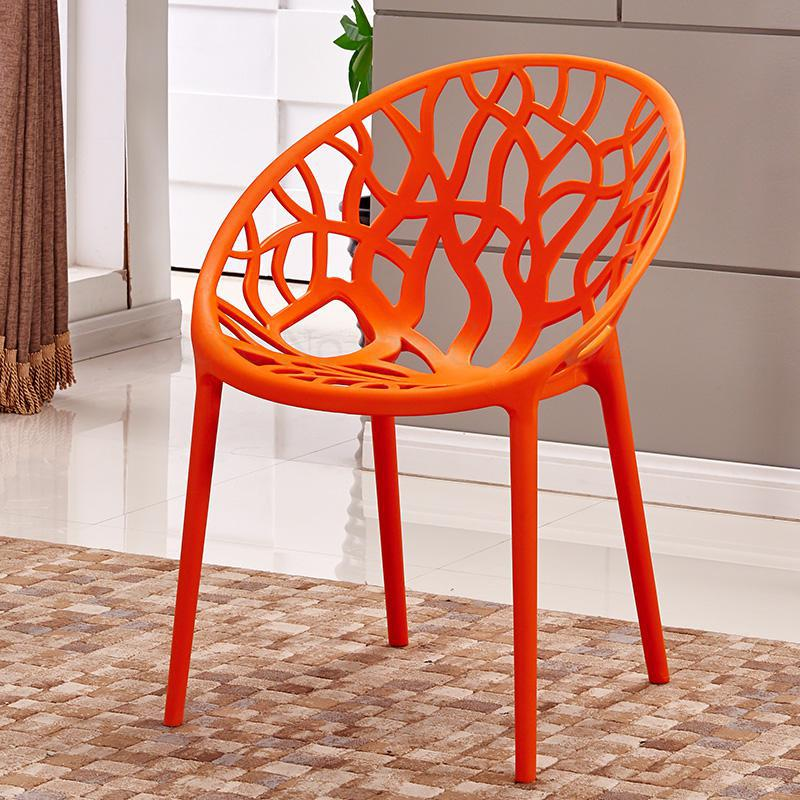 Modern minimalist plastic chair adult creative personality dining chair home fashion leisure lazy chair balcony