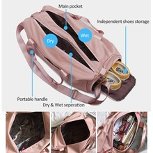 2019 Female Fashion Nylon Large Capacity Travelling Bags For Women Shoes Travel Waterproof Dry Wet Womens Handbags