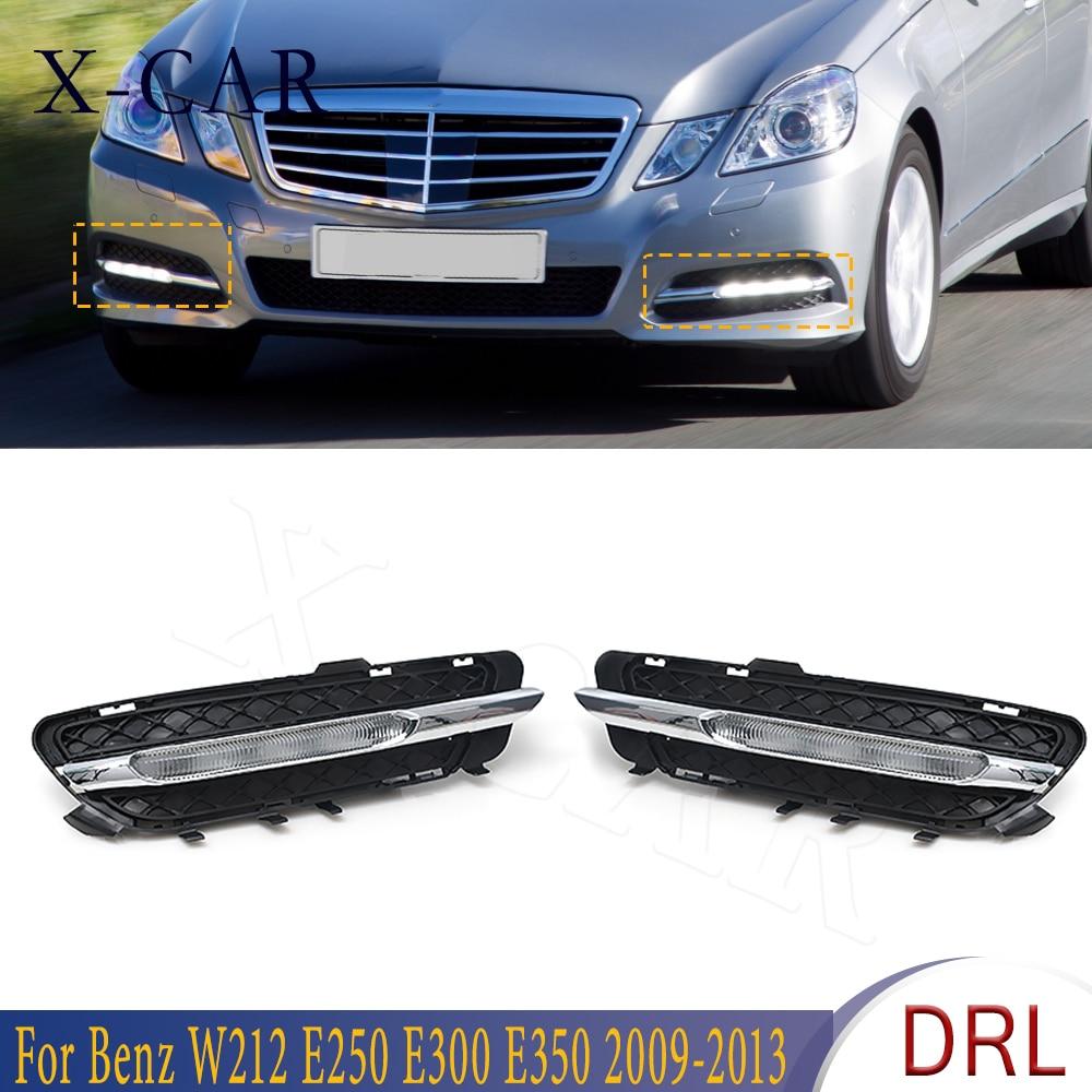 X-CAR DRL светодиодный Габаритные огни противотуманных фар для Mercedes-Benz W212 E250 E300 E350 2009 2010 2011-2013 2128851574 2128851674
