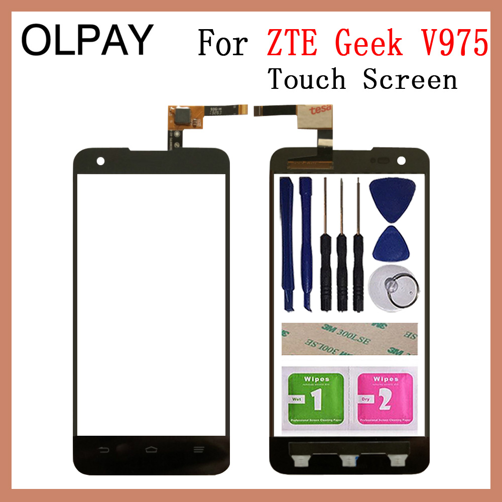 OLPAY 5.0 inch Phone Screen Touch For <font><b>ZTE</b></font> <font><b>Geek</b></font> <font><b>V975</b></font> Touch Screen Digitizer Panel Front Outer Front Glass Lens Sensor Repair image