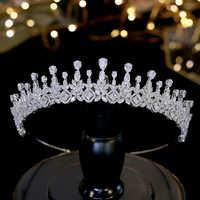 Squisito e semplice di cristallo corona da sposa femminile gioielli accessori per capelli capelli del copricapo della sposa di laurea A00579