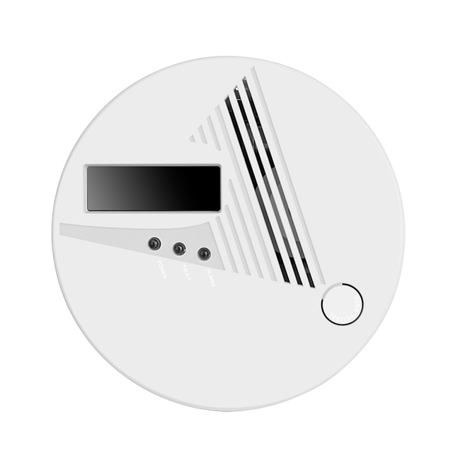 free shipping!LCD CO Sensor Work alone Built-in 85dB siren sound Independent Carbon Monoxide Poisoning Warning Alarm Detector Computer, Office & Security