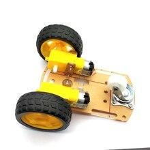 Inteligentny Robot samochodowy 2WD podwozie silnika/śledzenie samochodu skrzynka narzędziowa enkoder prędkości z opakowanie na baterie dla Arduino Diy Kit
