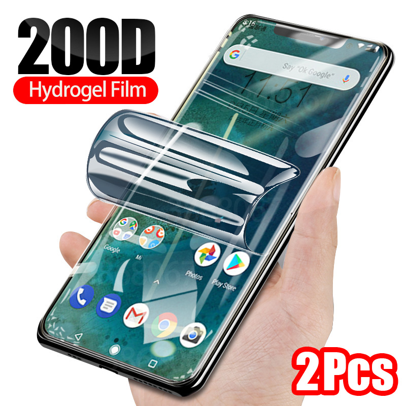 2Pcs 100D Hydrogel Film For Xiaomi MI A2 A2 Lite 9 9T Pro SE Screen Protector For Xiaomi MI Note 10 Pro A3 CC9 E Protective Film