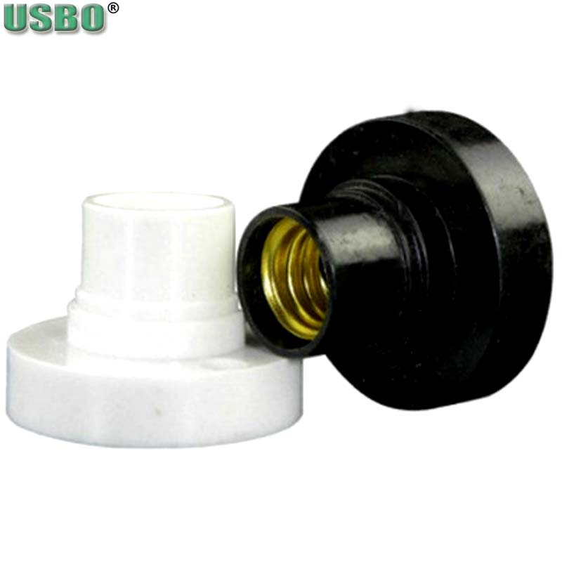 10pcs E14 Black White 6A 220V Conversion Flat Lamp Holder Lamp Switch Environmental Protection PBT Big Screw To Small Screw
