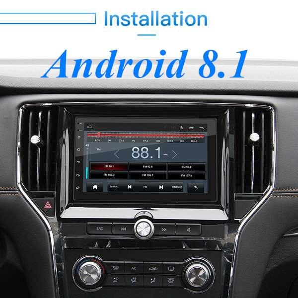 Android 8.1WiFi nawigacja GPS 7 Cal 2Din czterordzeniowy samochodowe stereo MP5 odtwarzacz radia FM