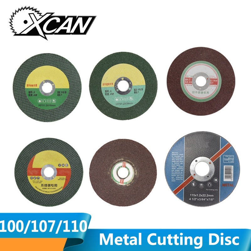 XCAN 10pcs Diameter 100/107/115mm Stainless Steel Resin Matel Cutting Discs Grinding Cut Off Wheel Fit Angle Grinder Power Tools