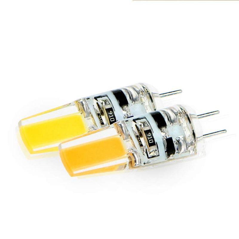 100 pièces en gros Dimmable Mini G4 LED COB lampe 6W ampoule DC 12V bougie Silicone lumières remplacer 30W 40W halogène pour lustre - 3