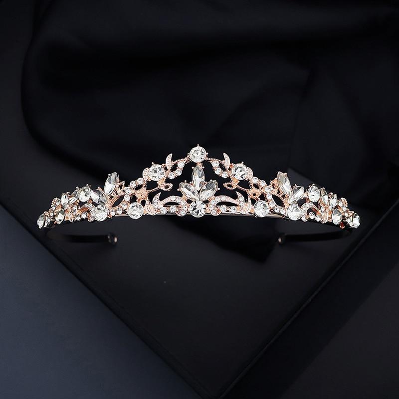Top Wedding Crown for Bridal Headpiece Gold Silver Headdress Crystal tiaras and crowns Bride tiara Wedding Hair Accessories