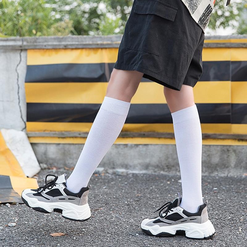 Женские носки, чулки, теплые гольфы, хлопковые длинные чулки, сексуальные чулки, черные, белые длинные носки для женщин, женские носки