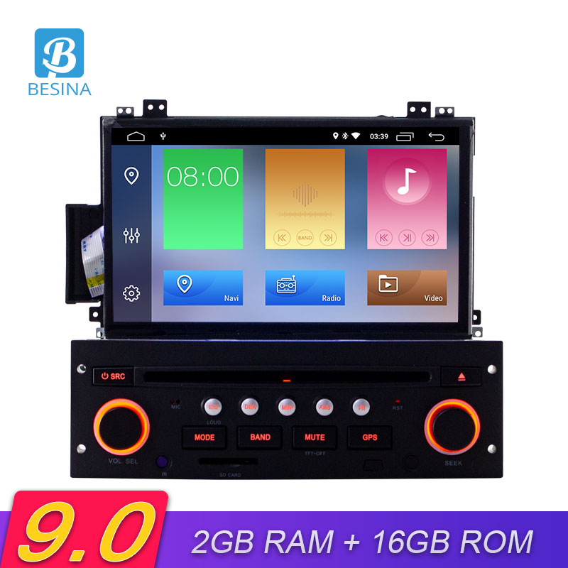 Besina Android 9.0 Car DVD Player For Citroen C5 2005-2012 Multimedia GPS Navigation 1 Din Car Radio Canbus Wifi Audio