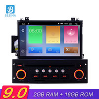 Besina Android 9.0 Car DVD Player For Citroen C5 2005 2012 Multimedia GPS Navigation 1 Din Car Radio 2G+16G wifi Audio Stereo