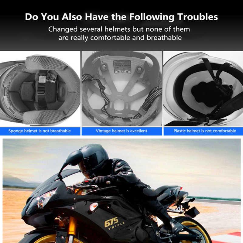 Motocicletas 3d celular rede capacete almofada interna inserção universal forro capacete almofada motocicletas capacete almofada de isolamento térmico