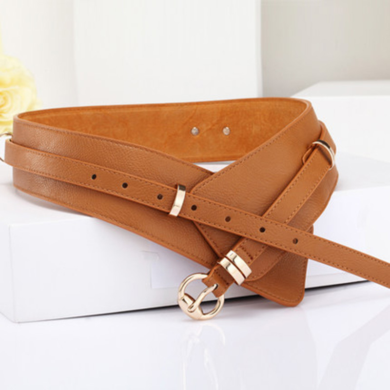 2020 Spring PU Leather Fashion Solid Belts For Women Stylish New Design Waistband Female Wide Belt Trendy Corset Belt Tide ZK471