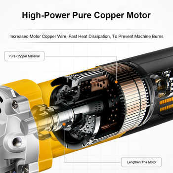 1980W Electric Angle Grinder Grinding Machine 100mm 11000RPM lectric Grinding Machine Power Tool Grinding Cutting Grinding Metal