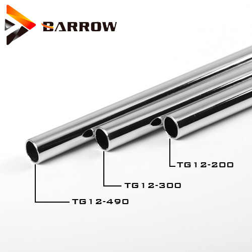 Barrow Tembaga Chrome Plating Logam Keras Tabung 10*12 Mm/12X14 Mm/14*16 Mm Pendingin Air Kit Pipa Keras Membangun aksesori 300 Mm