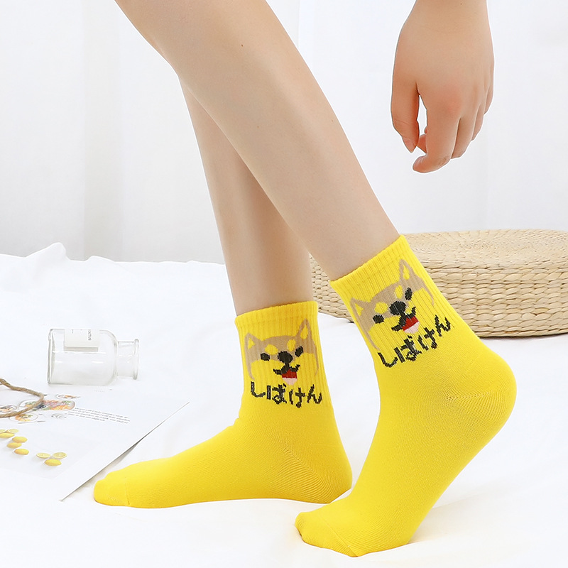 new fashion Harajuku women girls Hip Hop long socks cute Animal dinosaur socks for ladies funny japan cartoon socks