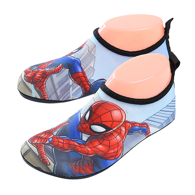 Summer Kids Slippers Cartoon Spiderman Beach Shoes For Children Water Anti Slip Soft Boys Slipper Barefoot Swim Girls Aqua Socks