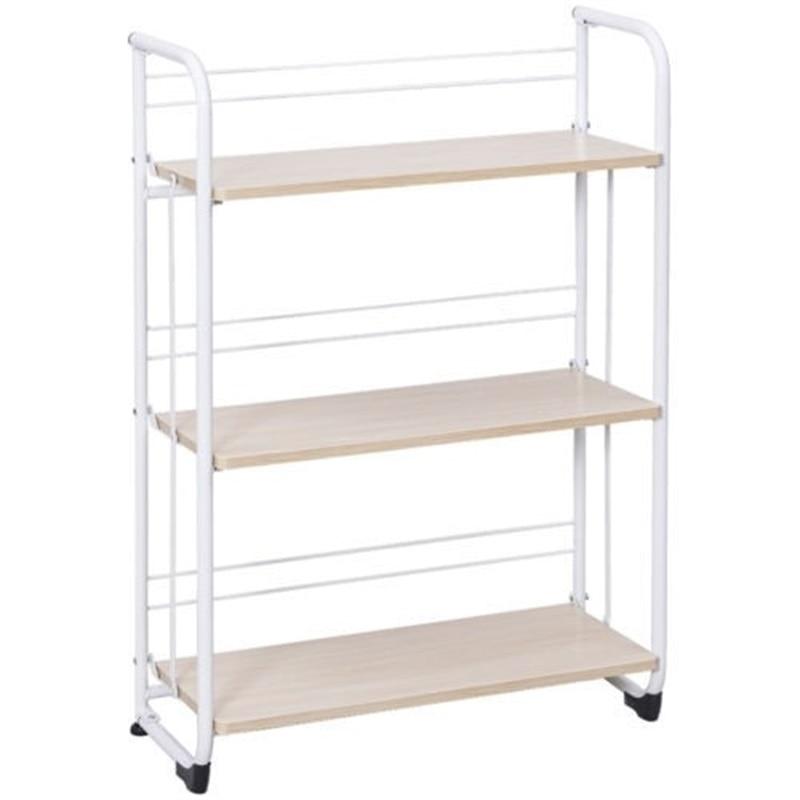 3 х уровневый складные полки для хранения утилита постоянная стойка для Кухня гараж для офисного помещения, используя пол Тип дома держател... - 4