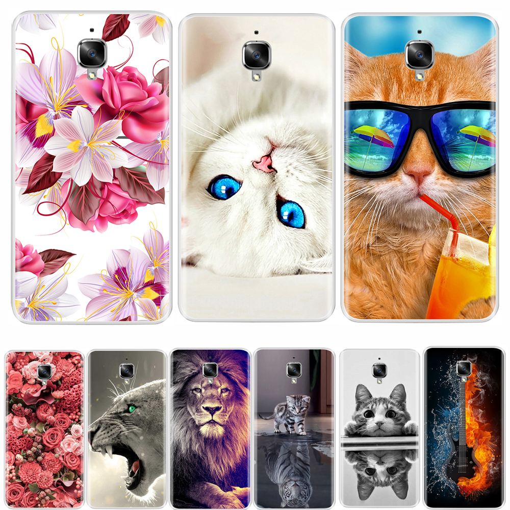 For OnePlus 3  Case Soft Silicone TPU Fashion Pattern Painted OnePlus 3T  Case Cover For One Plus 3 3T Back Cover