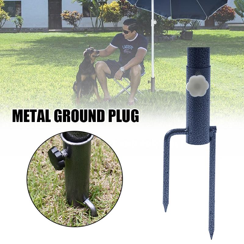 Parasol Ground Plug Sunshade Outdoor Sun Umbrella Stand Umbrella Black  Metal Iron Fixed Umbrella  Advertising Umbrella MOWA889
