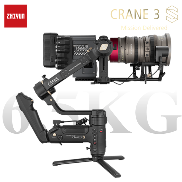 ZHIYUN Official Crane 3S E/Crane 3S 3 Axis Handheld Gimbal Payload 6.5KG for Video Camera  DSLR Camera Stabilizer New Arrival
